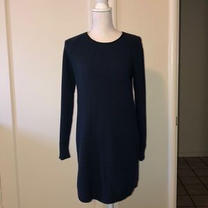 LIFT sweater dress with faux leather trim